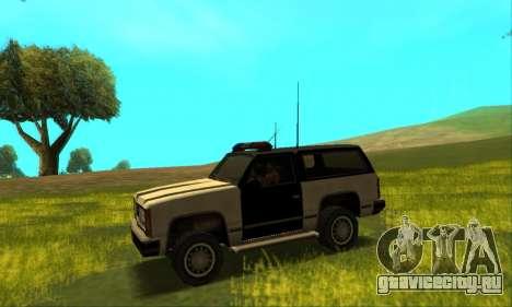 Beta Police Ranger для GTA San Andreas вид сзади