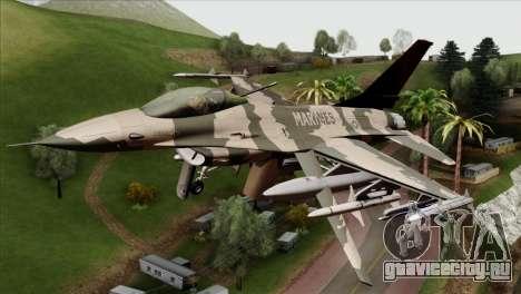 F-16C Top Gun для GTA San Andreas