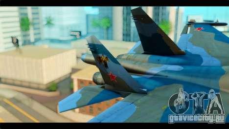 SU-34 Fullback Russian Air Force Camo Blue для GTA San Andreas вид сзади слева