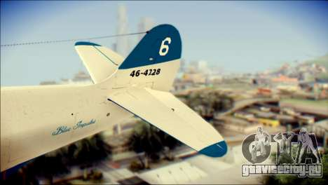 P-39N Airacobra JASDF Blue Impulse для GTA San Andreas вид сзади слева