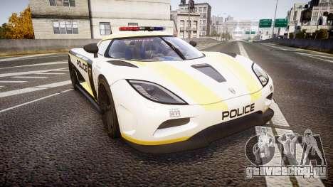 Koenigsegg Agera 2013 Police [EPM] v1.1 PJ1 для GTA 4