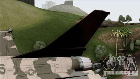 F-16C Top Gun для GTA San Andreas вид сзади слева