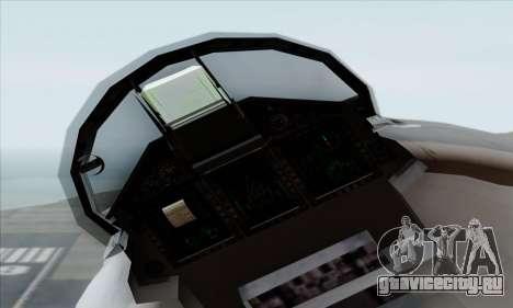 MIG 1.44 Flatpack Russian Air Force для GTA San Andreas вид справа