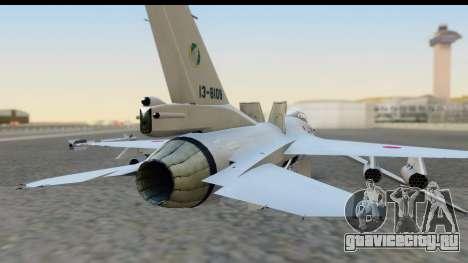 F-2A Zero White для GTA San Andreas вид сзади