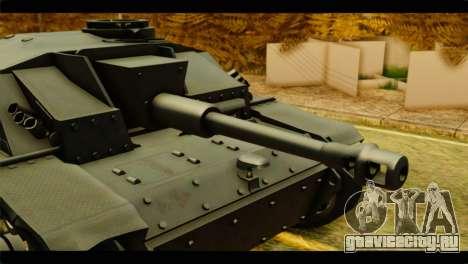 StuG III Ausf. G Girls und Panzer для GTA San Andreas вид сзади слева