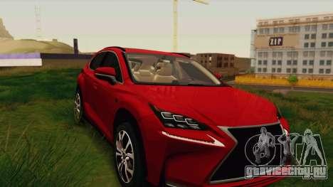 Lexus NX200T v2 для GTA San Andreas вид сзади