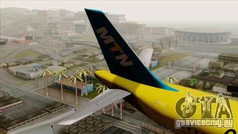 Airbus A320-200 MTN для GTA San Andreas вид сзади слева