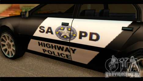 Stratum Police Highway v1.0 для GTA San Andreas вид справа