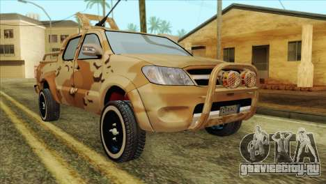 Toyota Hilux Siria Rebels without flag для GTA San Andreas