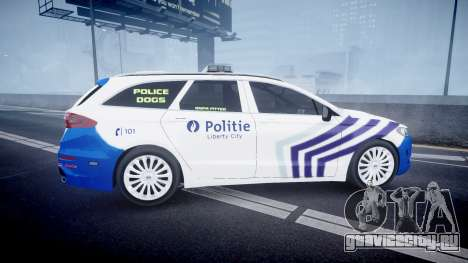 Ford Fusion Estate Belgian Police [ELS] Dog Unit для GTA 4 вид слева