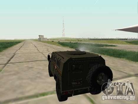 ГАЗ 2330 Парадный для GTA San Andreas вид изнутри