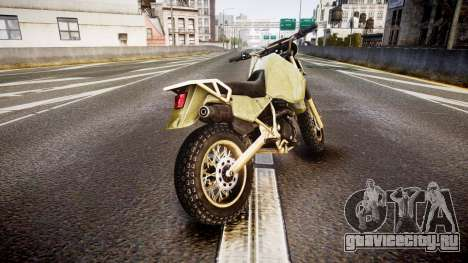 Dirt Bike для GTA 4 вид сзади слева
