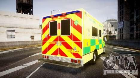 Mercedes-Benz Sprinter Ambulance [ELS] для GTA 4 вид сзади слева