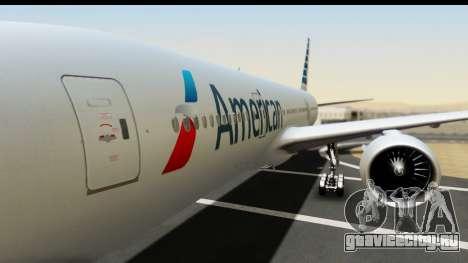 Boeing 777-200ER American Airlines для GTA San Andreas вид сзади