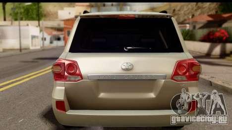 Toyota Land Cruiser 200 2013 для GTA San Andreas вид справа