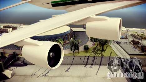Airbus A380-800 Fly Emirates Airline для GTA San Andreas вид справа