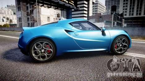 Alfa Romeo 4C 2014 HD Textures для GTA 4 вид слева