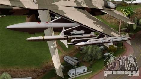 F-16C Top Gun для GTA San Andreas вид справа