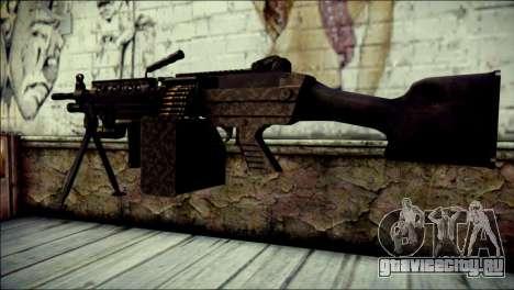 Gold M60 with Custom GTA 5 Icon для GTA San Andreas второй скриншот