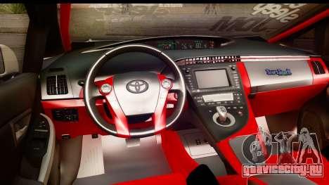Toyota Prius Hybrid Eri Ayase Love Live Itasha для GTA San Andreas вид изнутри