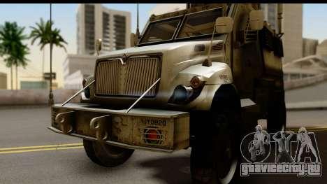 International MaxxPro MRAP для GTA San Andreas вид сзади слева