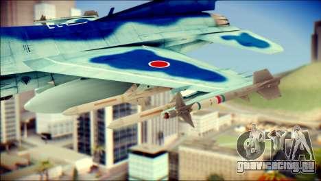 Mitsubishi F-2A JASDF v3.0 для GTA San Andreas вид справа