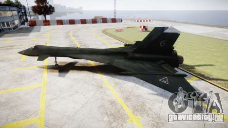 МиГ-31 Огненный лис MEC PJ для GTA 4 вид слева