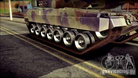 Leopard 2A6 PJ для GTA San Andreas вид сзади слева