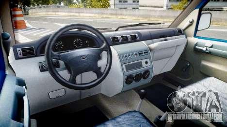 УАЗ-3165 Симба для GTA 4 вид изнутри