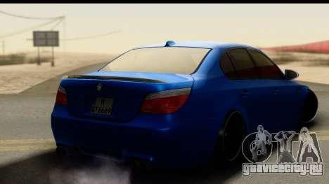 BMW M5 E60 Stanced для GTA San Andreas вид слева