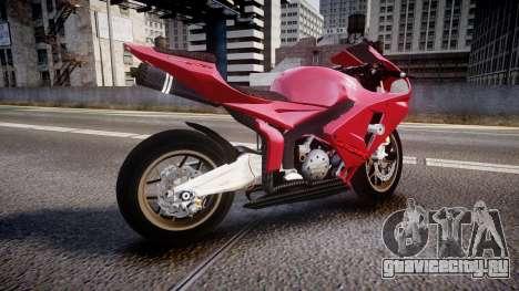 Honda CBR600RR для GTA 4 вид слева