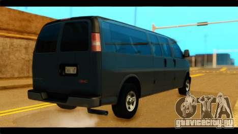 GMC Savana 3500 Passenger 2013 для GTA San Andreas вид слева