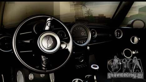 Mini Cooper Clubman 2011 для GTA San Andreas вид изнутри