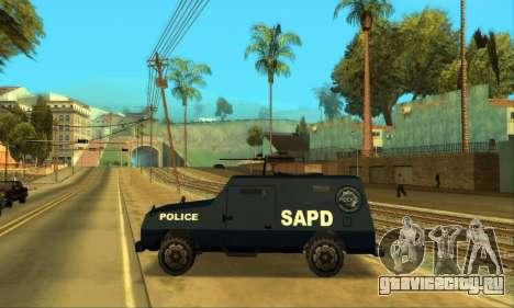 Beta FBI Truck для GTA San Andreas вид изнутри