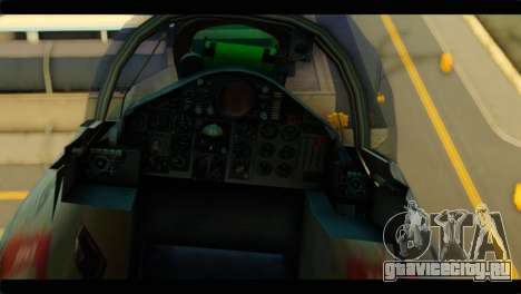Mitsubishi F-4J JASDF для GTA San Andreas вид сзади