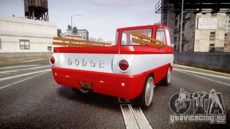 Dodge A100 Pickup 1964 для GTA 4 вид сзади слева
