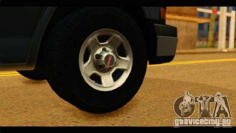 GMC Savana 3500 Passenger 2013 для GTA San Andreas вид сзади слева