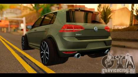 Volkswagen Golf Mk7 2014 для GTA San Andreas вид слева