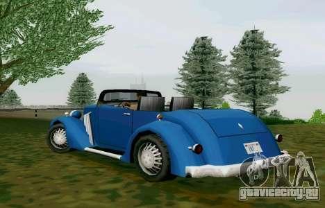 Hustler Cabriolet для GTA San Andreas вид сзади слева