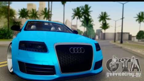 Audi RS6 Vossen для GTA San Andreas вид сзади слева