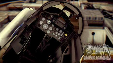 MIG-29 Fulcrum Reskin для GTA San Andreas вид сзади