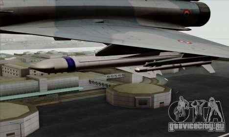 Dassault Mirage 2000-5 ACAH для GTA San Andreas вид справа