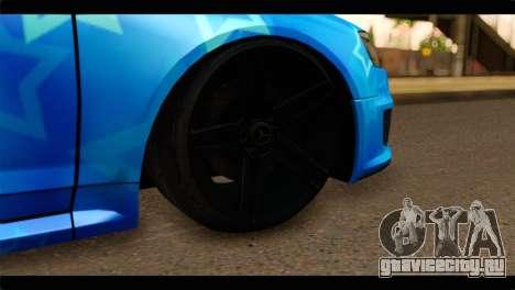 Audi RS6 VIP Star для GTA San Andreas вид сзади слева