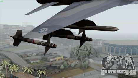 Northrop F-5E Tiger II Wardog Squadron для GTA San Andreas вид справа