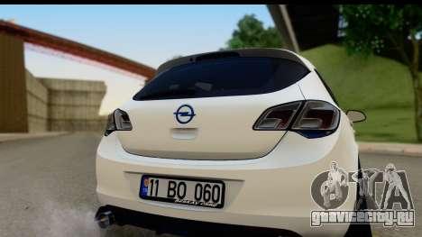 Opel Astra J для GTA San Andreas вид справа