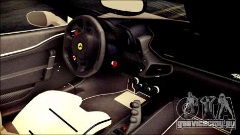Ferrari 458 Speciale 2015 HQ для GTA San Andreas вид справа