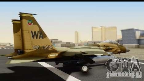F-15C Eagle Desert Aggressor для GTA San Andreas вид слева