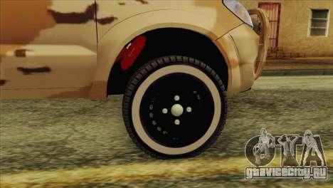 Toyota Hilux Siria Rebels without flag для GTA San Andreas вид справа