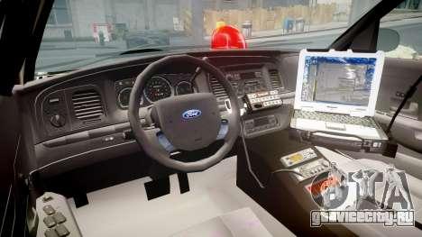 Ford Crown Victoria NYPD Unmarked [ELS] для GTA 4 вид сзади