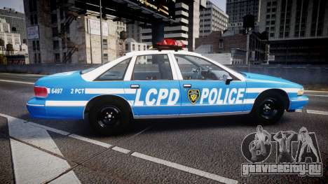 Chevrolet Caprice 1993 LCPD Without Hubcabs ELS для GTA 4 вид слева